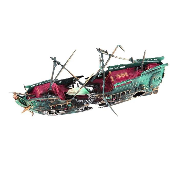 Domybest Ornamento del acuario, Barco de Pesca del Ornamento del Acuario Peces tanque accesorios: Amazon.es: Productos para mascotas