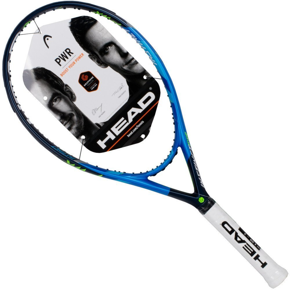 Amazon.com : HEAD Graphene Touch Instinct PWR (Power) Extended/Oversized 16x19 Blue/Black/Lime Tennis Racquet Strung with Custom String Colors (Best Racket ...