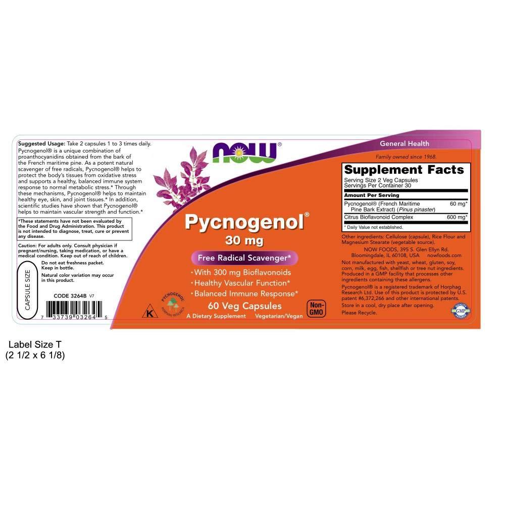 Pycnogenol 30mg - 60 caps: Amazon.es: Salud y cuidado personal