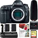 Canon EOS 5D Mark IV 30.4 MP DSLR Camera + Tascam DR-10SG Audio Recorder & Microphone Kit