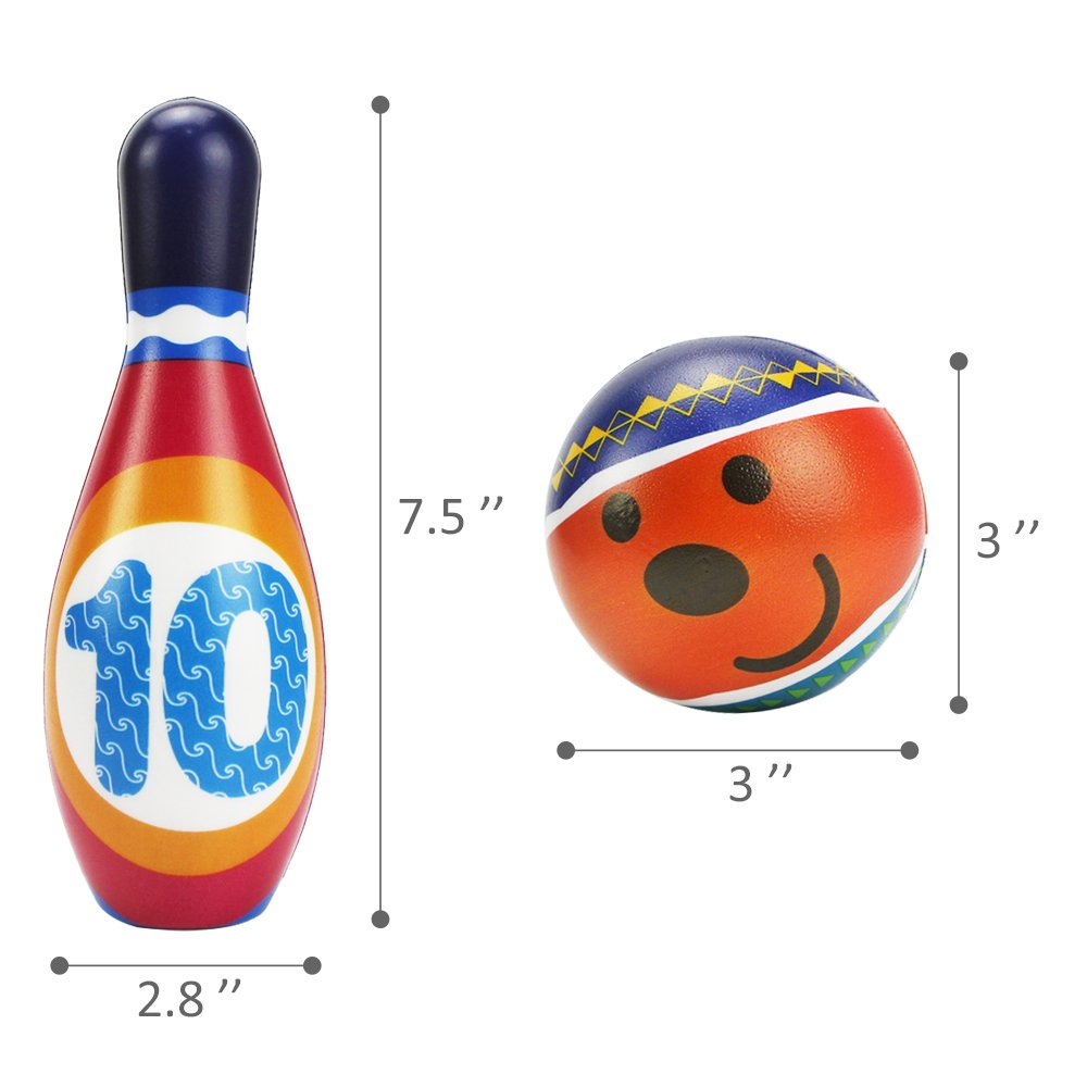 """What Kids Want Dreamworks Trolls 7.5/"""" Licensed Bowling Play Set"""