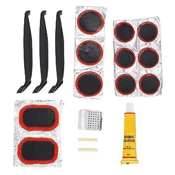 Tbest Reparación de Neumáticos de Bicicleta Parche Kit,Kits de Reparación de Llantas Mini Bicicleta Portátil Neumáticos Herramientas de Llantas Juego de ...