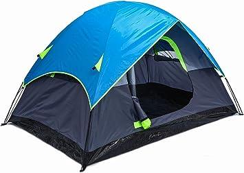 Tienda de Campaña para 1-2 Personas, Tienda de Campaña Familiar e Impermeable para Acampar, Caminatas, Escalada, Playa, Plegable y Portátil, Naranja, 85 * 59 * 49.5IN: Amazon.es: Deportes y aire libre