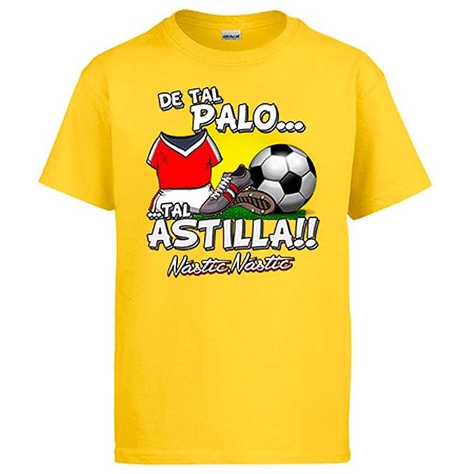 Camiseta de tal palo tal astilla Nàstic fútbol: Amazon.es: Ropa y accesorios