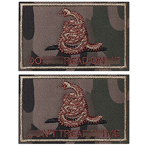 SHELCUP 2 Pieces Don't Tread on Me Tactical Patch Military Morale Patch Ruins of The Green