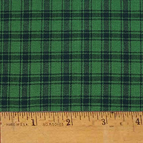 Mountain Lodge 4 Green Cotton Homespun Plaid Fabric by JCS - Sold by The Yard ()