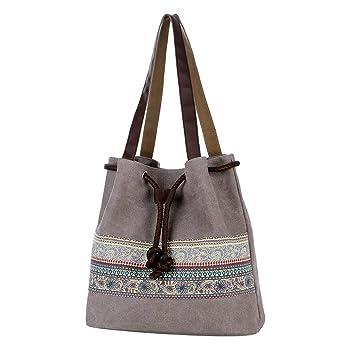 8988fa061013 Amazon.com : ❤️Sunbona Canvas Handbag for Women Leisure National ...