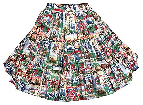 Rodeo Print Square Dance Skirt (Small) by Square Up Fashions