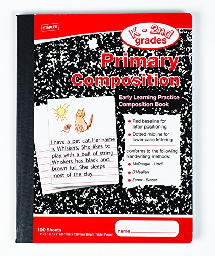 Staples Primary Composition Book, 9 3/4