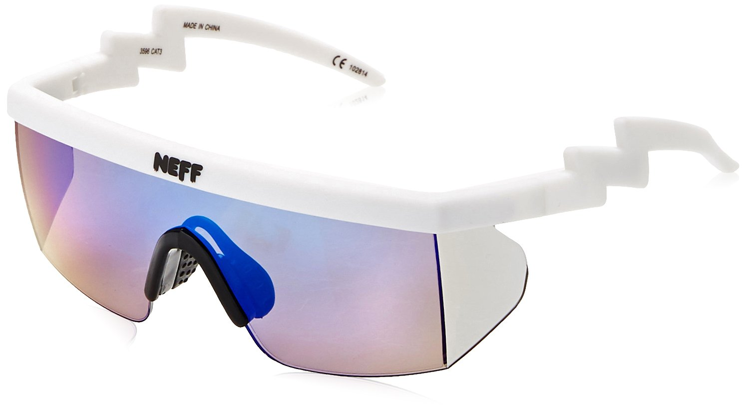 4bb5163344 Galleon - Neff Brodie Shades Rimless Sunglasses WHITE RUBBER 6 Mm