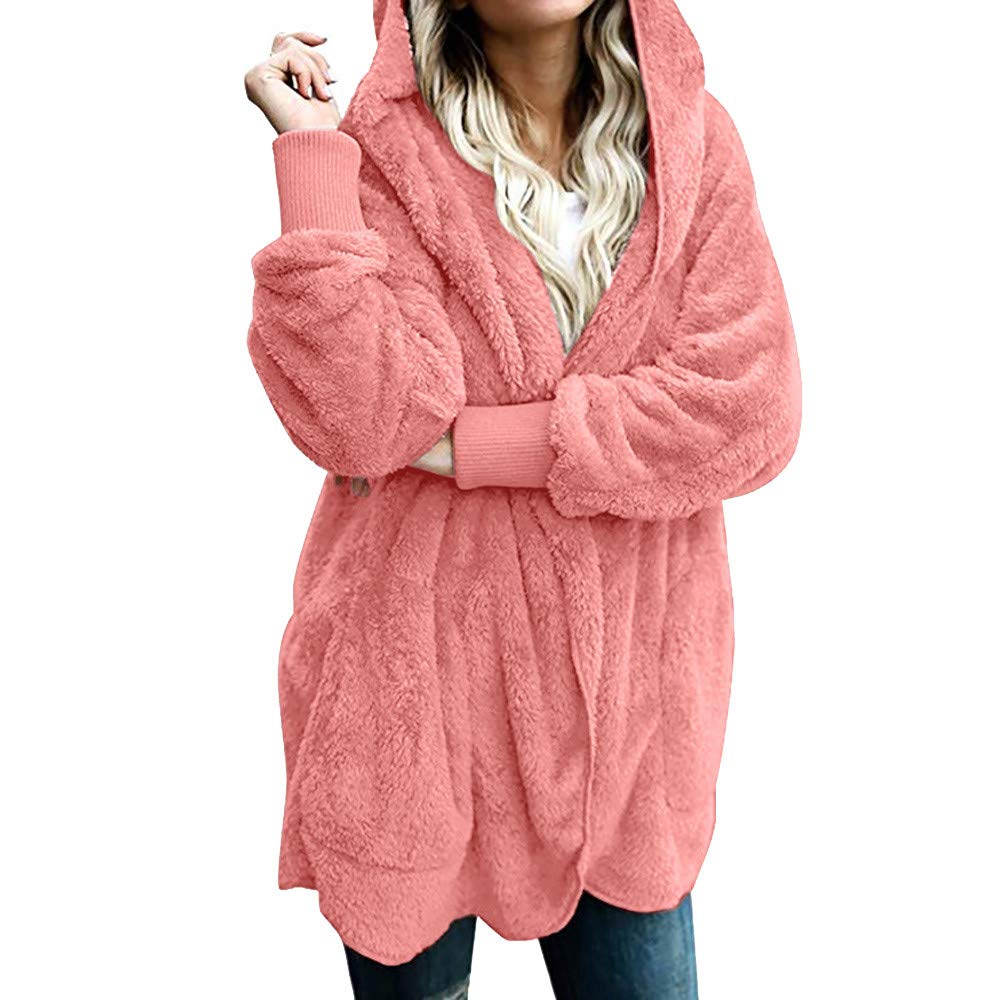 Chic Comfort Coat, KIKOY Women Hooded Long Coat Jacket Hoodies Outwear Cardigan