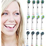 Oral B Compatible Replacement Brush Heads – Pack Of 12 Assorted Heads - Includes 4 Floss Action, 4 Cross Action, & 4 Pro White – Try Them All You'll Find Your Favorite
