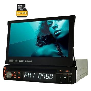 Eincar Universal 1 DIN Reproductor de DVD 7 Pulgadas de Pantalla táctil Radio Panel Desmontable estéreo del Coche Unidad Principal Wince GPS Ayuda de ...