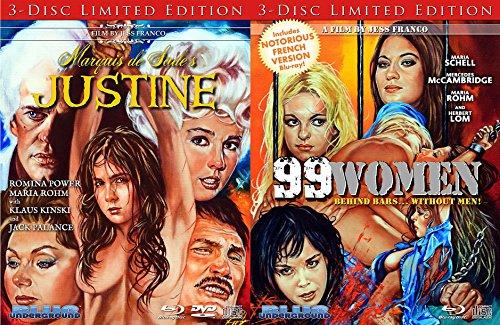 Marquis de Sade's: Justine & 99 Woman Behind Bars Jess Franco Double Feature Limited Edition Bundle