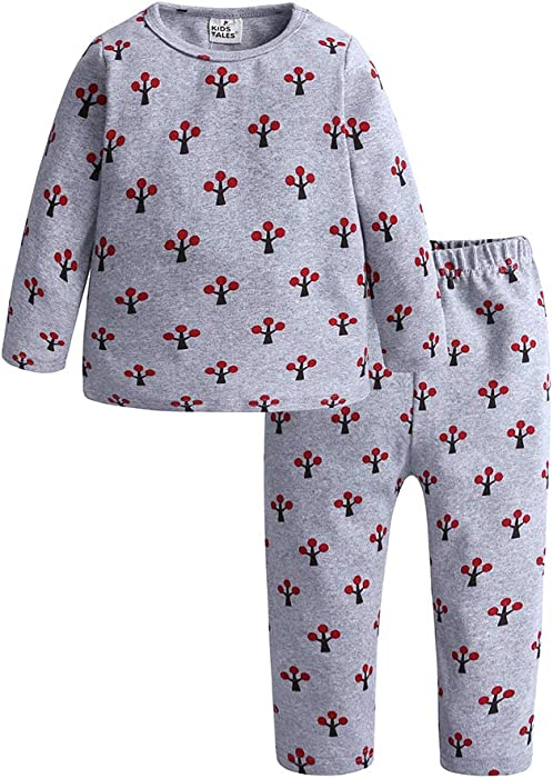 e8a5efae4 Amazon.com  Kids Tales Boys Girls 2Pcs Long Sleeve Pajama Set Kids ...