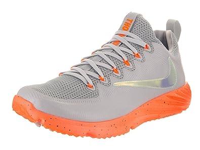 Nike Men's Vapor Speed Turf Lax Wolf Grey/Total Orange/Black Training Shoe 8