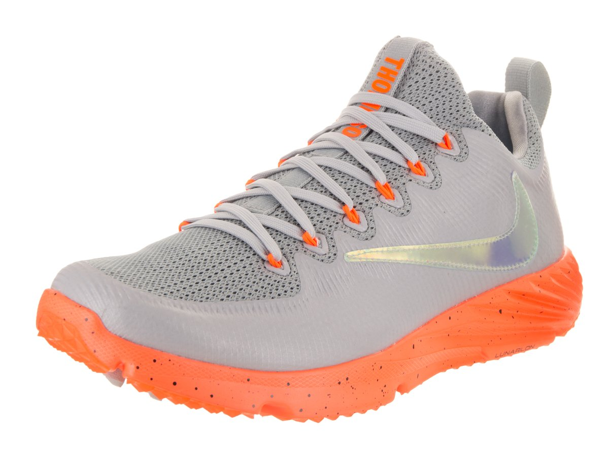 NIKE Men's Vapor Speed Turf Lax Wolf Grey/Total Orange/Black Training Shoe 10 Men US