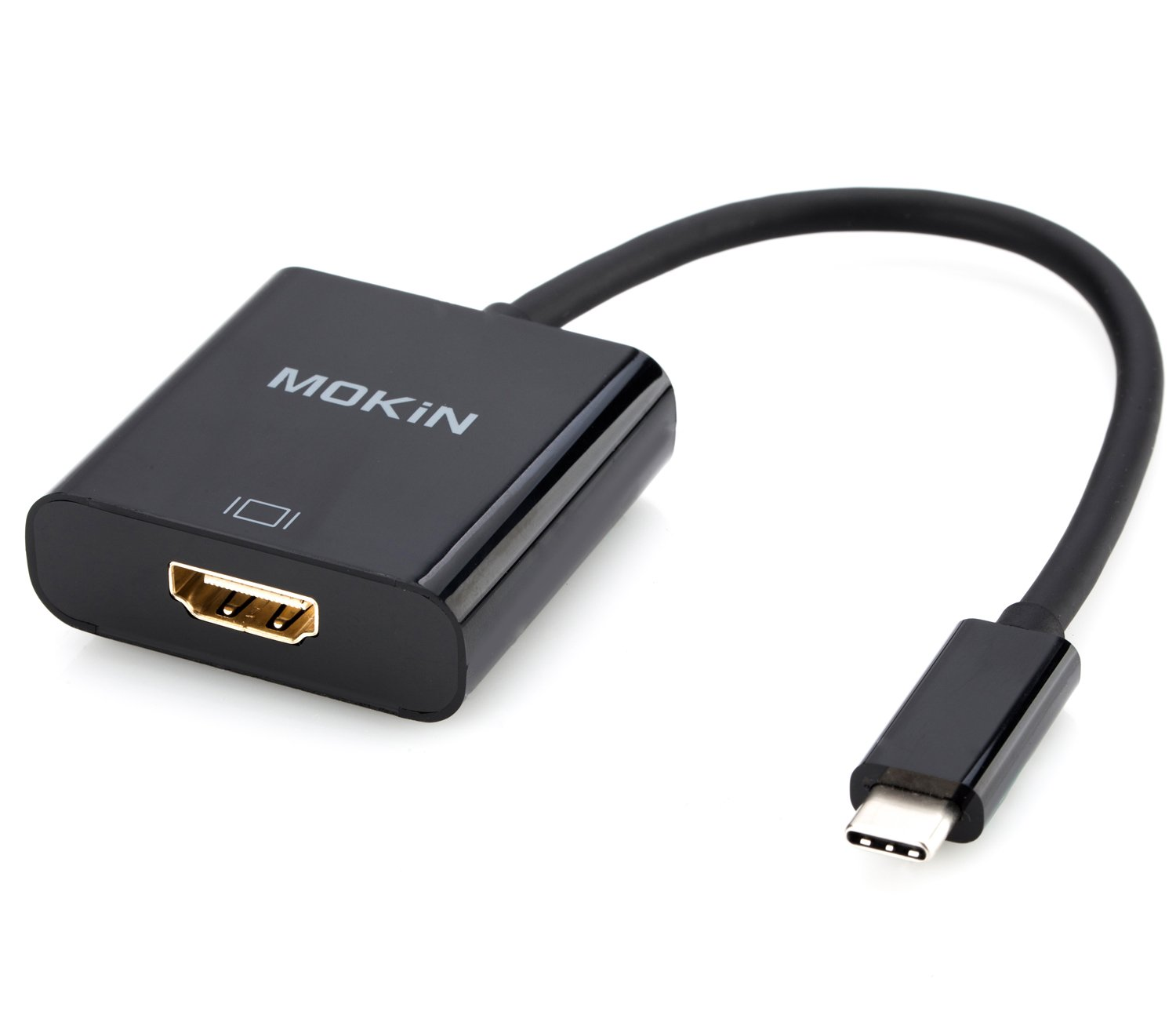 USB C to HDMI Adapter,MOKiN USB C(Type C) To HDMI Adapter Cable For Macbook,Chromebook Pixel,Dell XPS 12/13/15 And More With Gold-Plated HDMI Port,Sup (USB C TO HDMI)