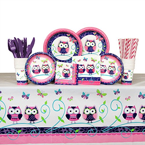 Owl Party Supplies Pack Guests