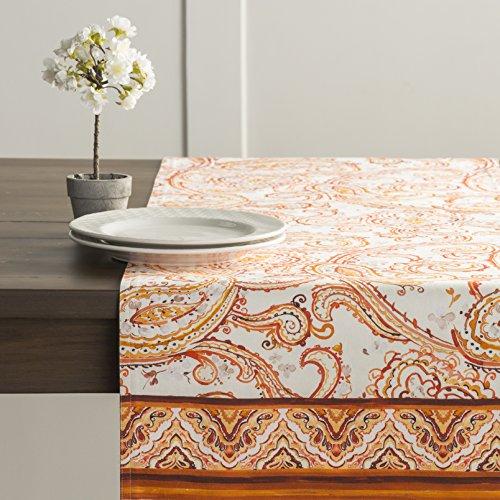 Maison d' Hermine Palatial Paisley 100% Cotton Table Runner 14.50 - Inch by 108 - Inch. by Maison d' Hermine (Image #4)