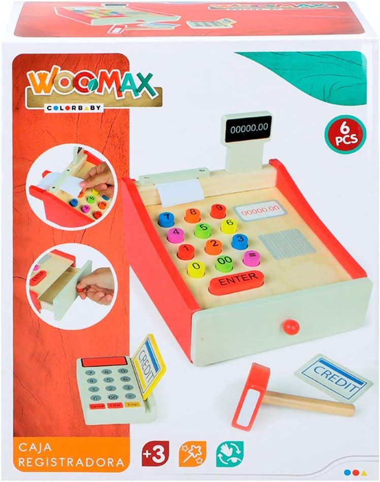WOOMAX- Caja registradora de Madera (Colorbaby 43628): Amazon.es ...