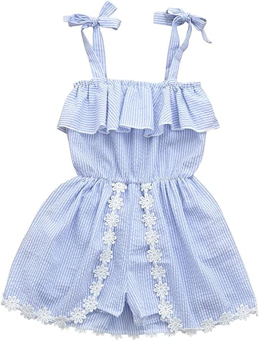 Lurryly Toddler Baby Girls Cartoon Dress Pattern Sleeveless Dress Clothes Outfits 1-4 T