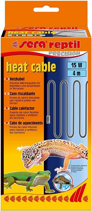 Sera 32008 Reptil - Cable de Calor (4 m, 15 W, Resistente a Las Salpicaduras y a Las Garras)
