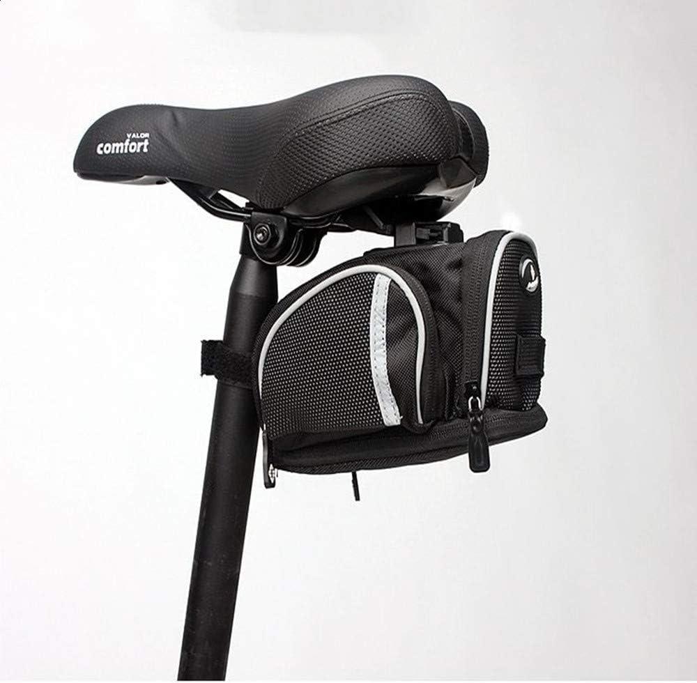 zzyks - Bolsa para Bicicleta de montaña, sillín, Asiento Trasero, cojín, Kit, Equipamiento de conducción, Asiento Trasero Plegable para Bicicleta: Amazon.es: Hogar