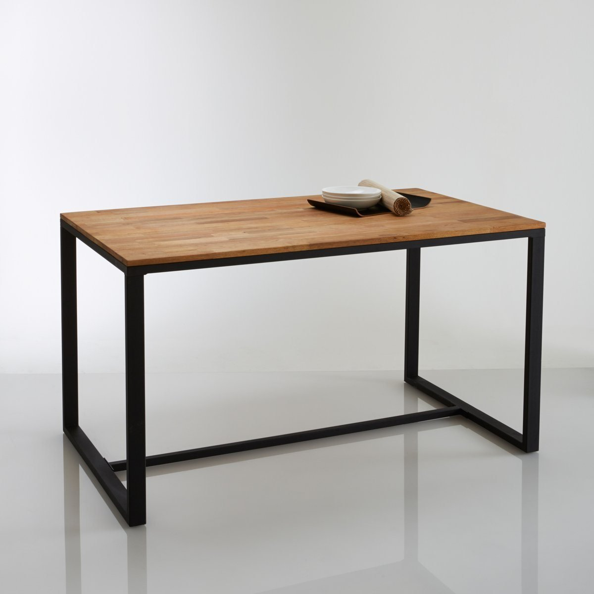 La Redoute Interieurs Hiba Solid Walnut 4 Seater Dining Table