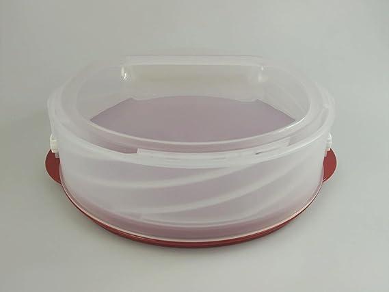 TUPPERWARE Exclusiv Tortentwist rot Twist Tortenbehälter Kuchenform Torten