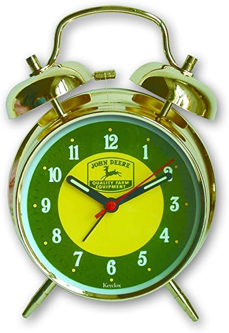 John Deere Childs Twin Bell Alarm Clock