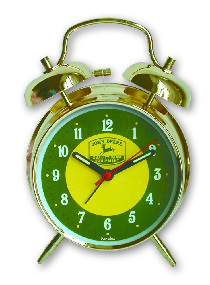 Key Enterprises John Deere 4 Inch Twin Bell Alarm Clock by Key Enterprises (Image #1)