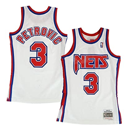 2d5d18379d1 Mitchell   Ness Drazen Petrovic New Jersey Nets 1992-93 Home Swingman Jersey
