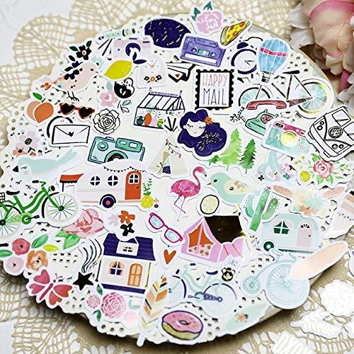Scrapbooking Cut Stickers Die - 66pcs Happy Mail Paper Cardstock Die Cut Stickers for DIY Scrapbooking/photo album Decoration Card Making Crafts