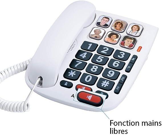 Alcatel Max 10 - Teléfono con cable para personas mayores, blanco: Alcatel: Amazon.es: Electrónica