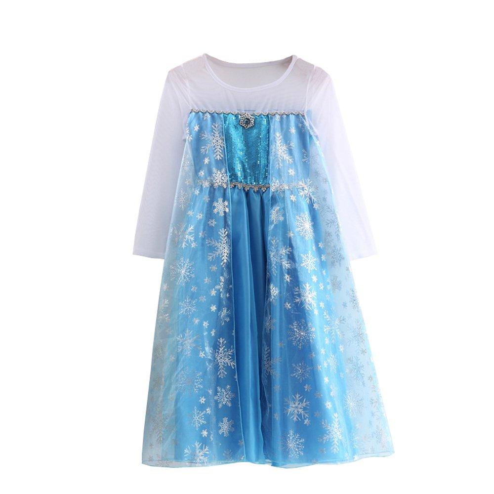 URAQT Vestido de Princesa Reina de Las Nieves Disfraz Elsa Vestido ...