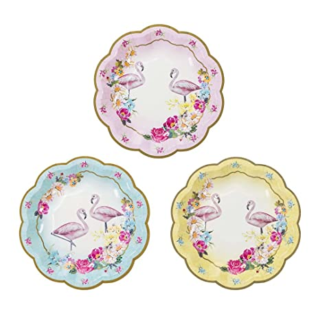 Talking Tables Truly Flamingo Floral Flamingo Disposable Plates 12 count 7 inch in 3  sc 1 st  Amazon.com & Amazon.com: Talking Tables Truly Flamingo Floral Flamingo ...
