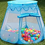 Portable Kids Play Tent, Indoor Outdoor Children Toys Playhouse for Boys Girls Play Pit Balls Pool Suitable for 1-6 years old children kids