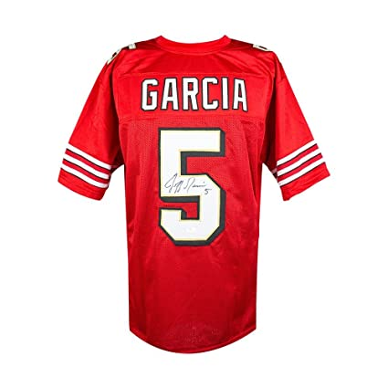 a1c5bbdf6 Jeff Garcia Autographed San Francisco 49ers Custom Red Football Jersey -  JSA COA at Amazon s Sports Collectibles Store