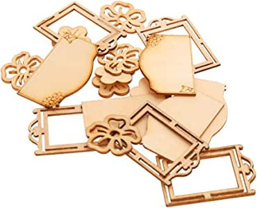 Shapes Wooden MDF Ply wood Craft Scrap booking Card Decoration acrylic mirror