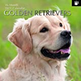2021 Wall Calendar - Golden Retriever Calendar, 12 x 12 Inch Monthly View, 16-Month, Dogs and Pets Theme, Includes 180 Remind