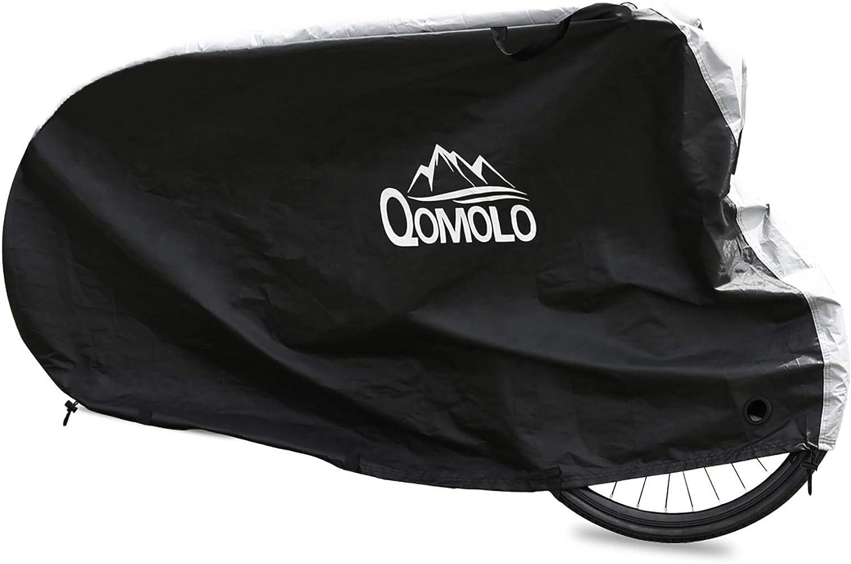 Qomolo Funda para Bicicleta Impermeable,Funda de Proteccion Bicicleta Exterior A Prueba de Polvo, Anti-UV Cubierta Bici Protector al Aire Libre para Bicicleta de Montaña y Carretera,200x75x115cm