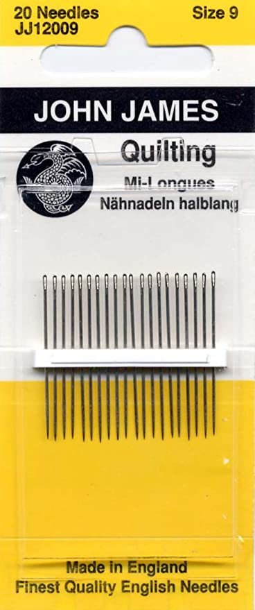 Colonial Needle JJ120-09 20 Count John James Between Quilting Needles Size 9