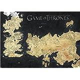 Poster Game of Thrones Los Siete Reinos (91,5cm x 61cm) + 2 marcos transparentes con suspención