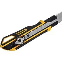ViCUT Gelbes hochbeanspruchbares, doppelschließendes und einziehbares Viwanda 25mm Cuttermesser / Universalmesser mit besonders dicken Stahlklingen und extra Klingenhalter. Cutter / Messer