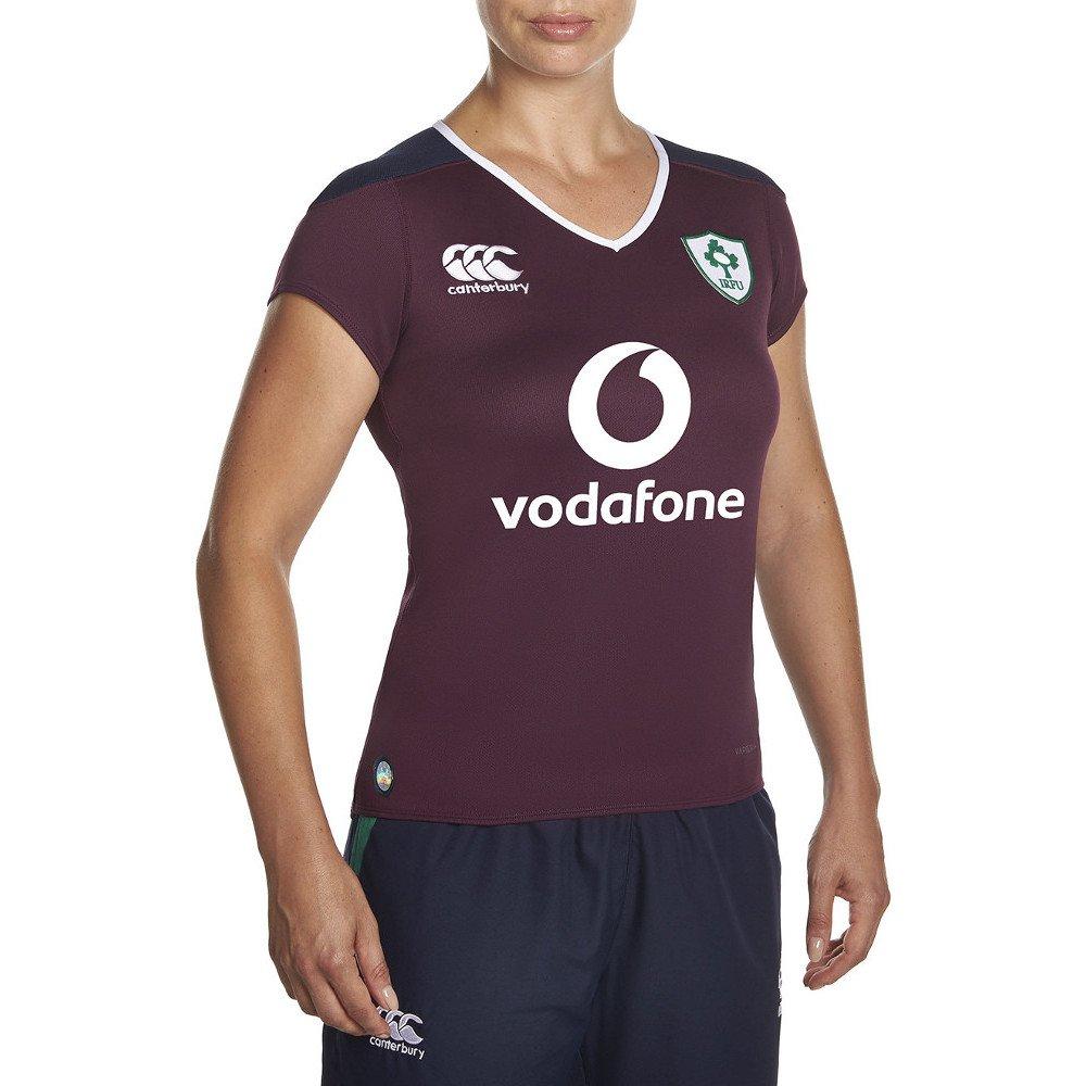 Ireland IRFU 2016/17 Ladies Alternate Pro S/S Rugby Shirt - Irish Plum Canterbury