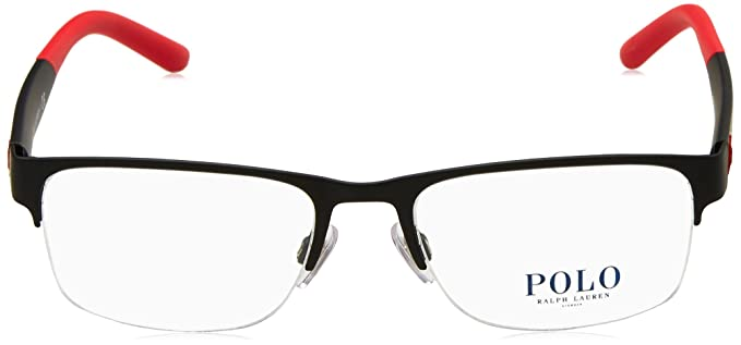 c465c4ade2a5 Eyeglasses Polo PH 1168 9319 RUBBER BLACK at Amazon Men's Clothing store: