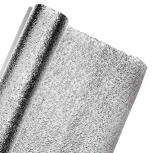 - Silver Cracked Ice Textured Metallic Decorating Paper Roll - 47