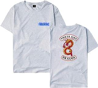 Unisex T-Shirt Riverdale Serpents Donna Camicia a Maniche Corte Magliette Casual Graphic T-Shirt Riverdale Top Estate O-Neck Tees Camicetta Blusa per Ragazza e Ragazzo