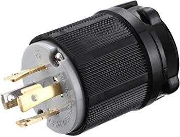 [WQZT_9871]  Amazon.com: Miady NEMA L14-30P Generator Plug, 30 Amp 4-Prong Industrial  Grade Locking Male Plug Up to 7,500W, Grounding Type/UL listed: Home  Improvement | L14 Plug Wiring To House |  | Amazon.com